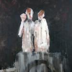 Charrette n°2 - 2007 - Huile sur toile préparée au médium à base de sable - 116 x 89 cm