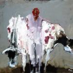 Maquignon - 2008 - Huile sur toile préparée au médium à base de sable - 73 x 92 cm