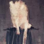 Nu blanc - 1997 - Huile sur toile préparée au médium à base de sable - 55 x 38 cm