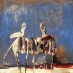 Manège - 1998 - Huile sur toile préparée au médium à base de sable - 60 x 73 cm