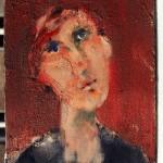 Portrait - 1998 - Huile sur toile préparée au médium à base de sable - 24 x 19 cm