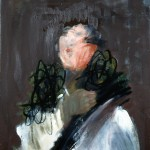 Rose à la fourrure - 1999 - Huile et fusain sur toile préparée au médium à base de sable - 65 x 54 cm