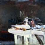 Atelier - 2000 - Huile sur toile préparée au médium à base de sable - 130 x 162 cm