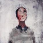 Portrait - 2000 - Huile sur toile préparée au médium à base de sable - 81 x 65 cm