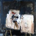 Atelier - 2002 - Huile sur toile préparée au médium à base de sable - 150 x 150 cm