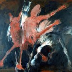 Chute - 2002 - Huile sur toile préparée au médium à base de sable - 150 x 200 cm