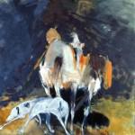 Automne - 2003 - Huile sur toile préparée au médium à base de sable - 150 x 150 cm