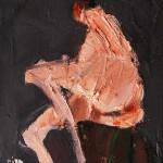 Nu - 2003 - Huile sur toile préparée au médium à base de sable - 27 x 22 cm