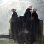 Charrette - 2004 - Huile sur toile préparée au médium à base de sable - 97 x 130 cm