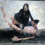 Pietà - 2004 - Huile sur toile préparée au médium à base de sable - 89 x 116 cm
