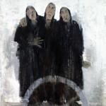 Charrette - 2005 - Huile sur toile préparée au médium à base de sable - 162 x 130 cm