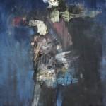 La Camarde - 2006 - Huile sur toile préparée au médium à base de sable - 162 x 97 cm