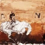 Manège - 1992 - Huile sur toile préparée au médium à base de sable - 38 x 46 cm