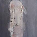 Nu blanc - 1992 - Huile sur toile préparée au médium à base de sable - 33 x 24 cm