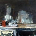 La Cuisinière - 1992 - Huile sur toile préparée au médium à base de sable - 97 x 162 cm