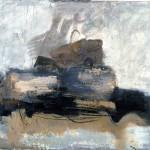 Nature morte au panier - 1994 - Huile sur toile préparée au médium à base de sable - 97 x 130 cm