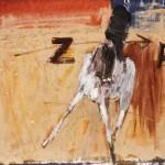 Manège - 1994 - Huile sur toile préparée au médium à base de sable - 30 x 30 cm