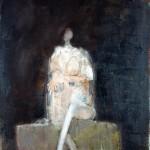 Nu - 1996 - Huile sur toile préparée au médium à base de sable - 65 x 54 cm
