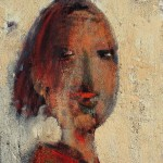 Portrait - 1996 - Huile sur toile préparée au médium à base de sable - 33 x 24 cm