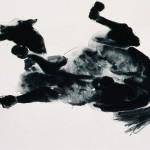 Cheval - 1977 - Lavis sur papier