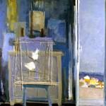 Dans l'atelier des vacances - 1978 - Huile sur toile - 120 x 120 cm