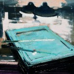 Billard - 1978 - Huile sur toile - 33 x 41 cm