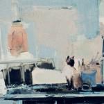 Foufouille à l'atelier - 1980 - Huile sur toile - 81 x 100 cm