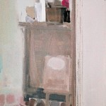 Cuisine - 1980 - Huile sur toile - 80 x 40 cm