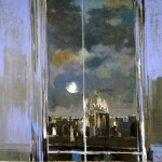 Paris la nuit - 1980 - Huile sur toile - 180 x 180 cm