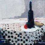 La nappe à damier - 1983 - Huile sur toile - 60 x 73 cm