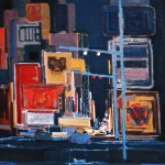 New York - 1983 - Huile sur toile - 120 x 120 cm