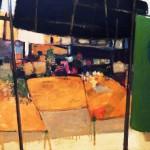 Marché - 1970 - Huile sur toile - 81 x 100 cm