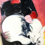 La femme au chat blanc - 1967 - Huile sur toile - 92 x 60 cm