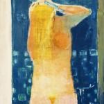 Nu à la toilette - 1974 - Huile sur toile - 100 x 81 cm