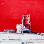 Le rouge à l'atelier - 1972 - Huile sur toile - 73 x 92 cm