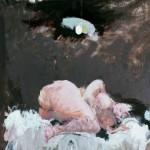 Nu à la lampe - 1976 - Huile sur toile - 73 x 60 cm