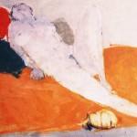 Nu au chat - 1971 - Huile sur toile - 73 x 60 cm