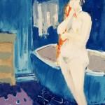 Nu à la baignoire - 1972 - Huile sur toile - 61 x 50 cm