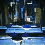 Billard - 1984 - Huile sur toile - 80 x 80 cm