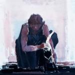 Femme au chat - 1984 - Huile sur toile - 80 x 80 cm