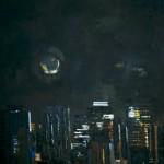 Lune à New York - 1984 - Huile sur toile - 162 x 97 cm