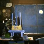 Nocturne à l'atelier - 1985 - Huile sur toile - 60 x 73 cm