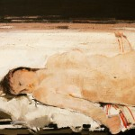Nu allongé - 1985 - Huile sur toile - 81 x 100 cm
