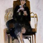 La femme au tricot - 1986 - Huile sur toile - 100 x 65 cm