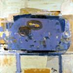 La table bleue - 1987 - Huile sur toile - 100 x 100 cm