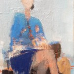 Rendez-vous - 1987 - Huile sur toile - 121 x 60 cm